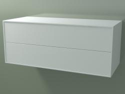 Caja doble (8AUECB01, Glacier White C01, HPL P01, L 120, P 50, H 48 cm)