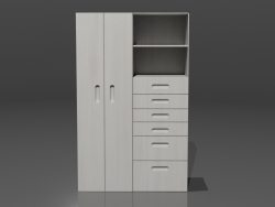 Wardrobe with shelving