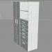 3d Wardrobe with shelving model buy - render