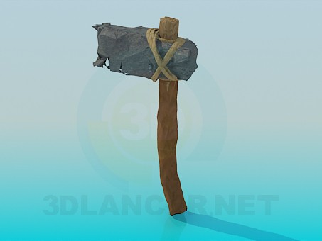 3d model Stone age tool - preview
