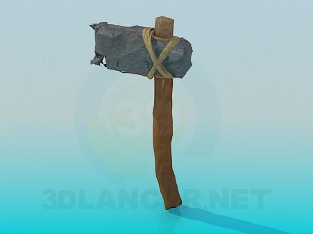 3d модель Инструмент каменного века – превью