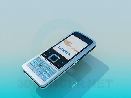 3d modeling Nokia 6300 model free download