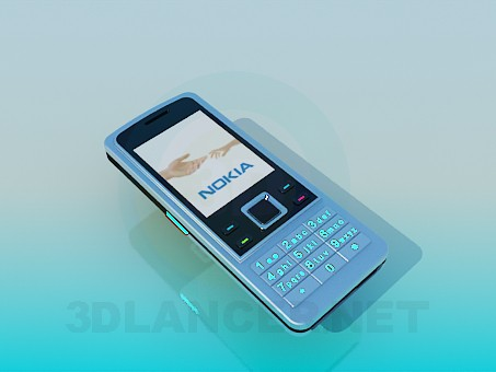 3d model Nokia 6300 - preview