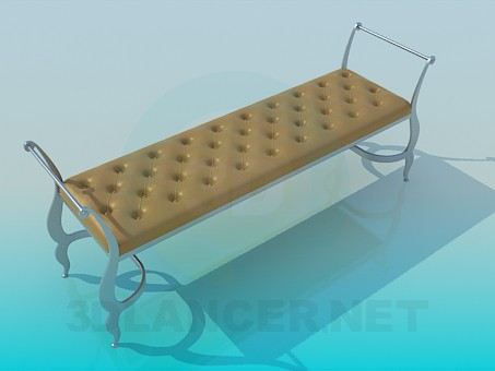 3d model Beautiful soft bench - preview