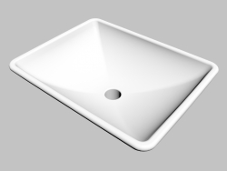 Washbasin mounted on the table top Gardenia (CDG 6U5S)