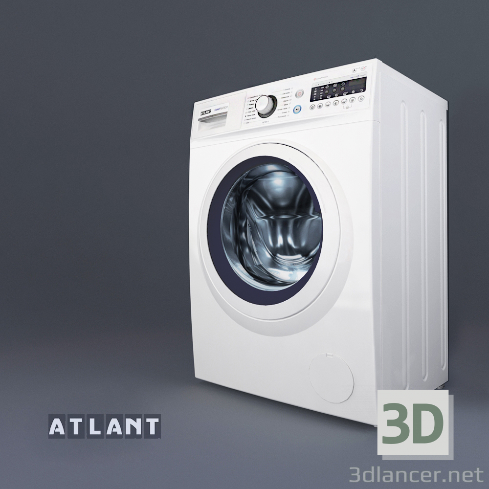 3d model Washing machine ATLANT 10 series SMART ACTION - preview