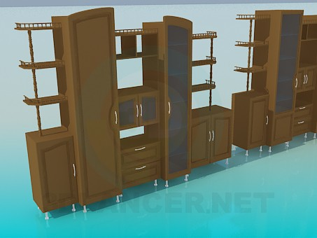 3d model Wall unit - preview
