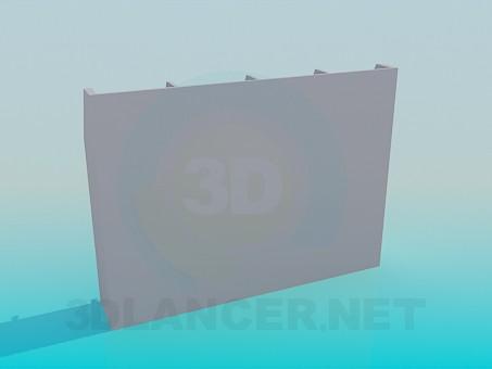 modelo 3D Armario con cajones y estantes - escuchar