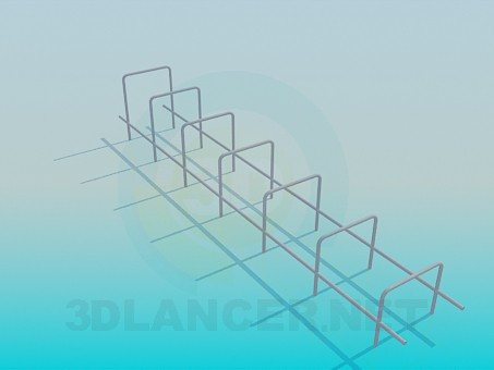 3d modeling Horizontal bar for playground model free download