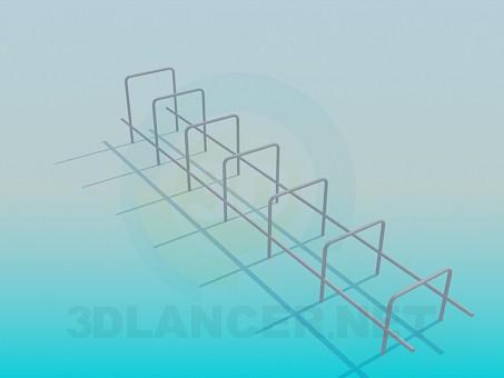 3d моделирование Турник для детской площадки модель скачать бесплатно