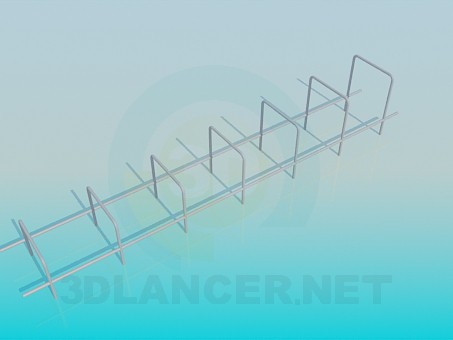 3d model Horizontal bar for playground - preview