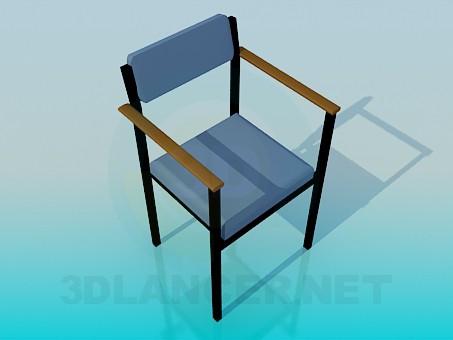 descarga gratuita de 3D modelado modelo Silla con brazos