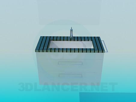 modelo 3D Lavabo de teja pequeña - escuchar