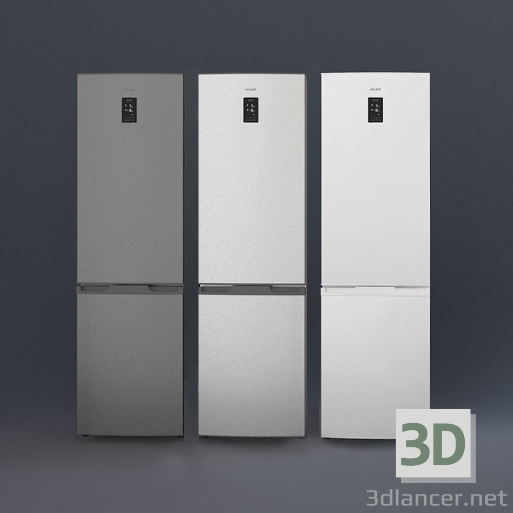 3d model Refrigerator ATLANT XM 4424-ND. Novelty of 2018! - preview
