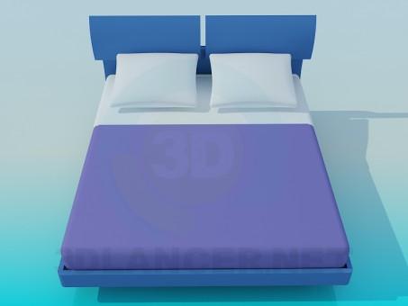 3D Modell Bett - Vorschau