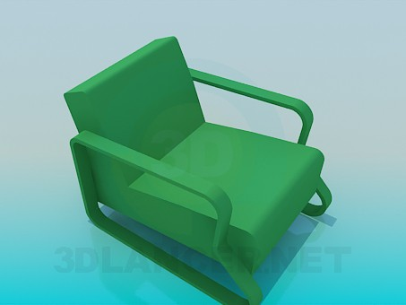 3d modeling Chair with solid armrests model free download