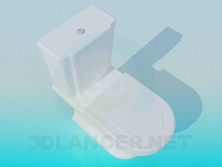 3d model Inodoro con cisterna torpe - vista previa