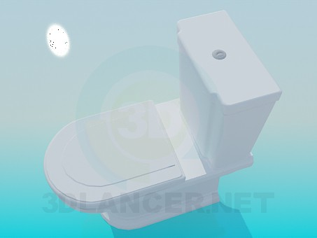 3d model Toilet with awkward cistern - preview