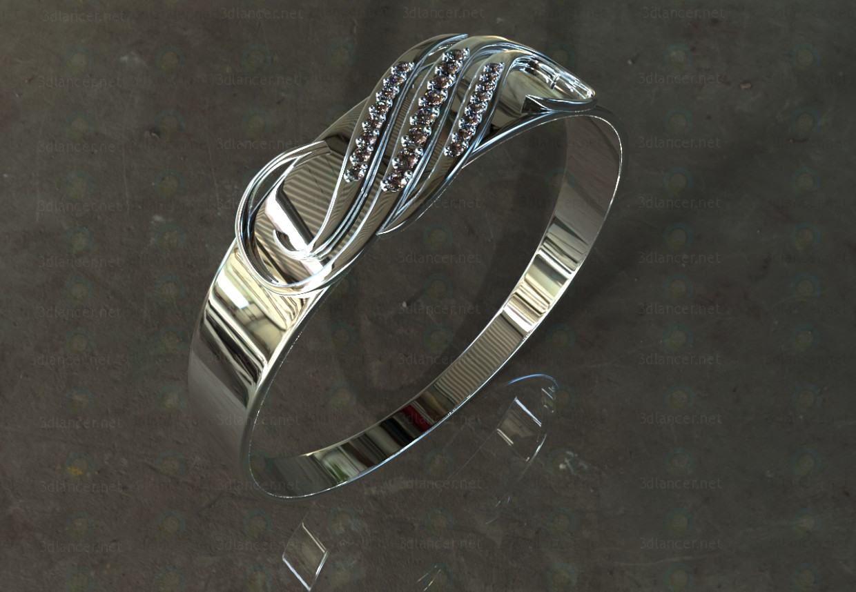"3d model Ring ""patterned"" - preview"