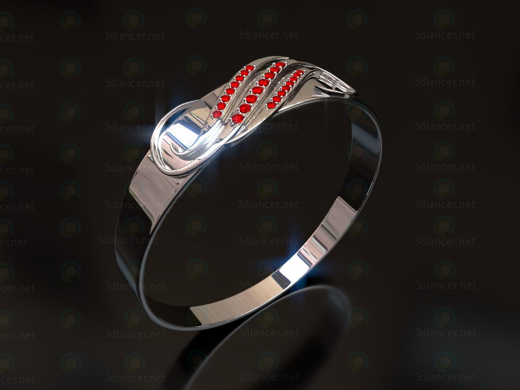 """3d model Ring """"patterned"""" - preview"""