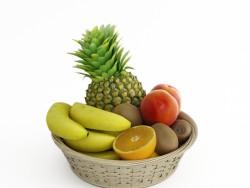 Eine Schüssel mit Obst