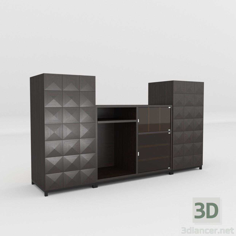 3d Wine cabinet model buy - render