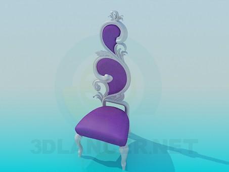 3d модель Красивый сиреневый стул – превью