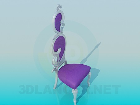 3d model Beautiful purple chair - preview