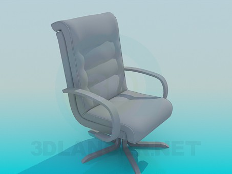 3d model boss's armchair - preview