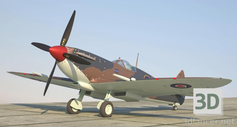 3d Spifire Mk VIII model buy - render