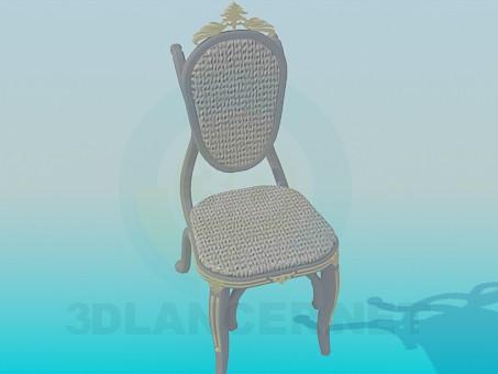 3d модель Пристеночный стул – превью