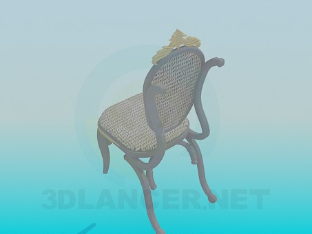 modelo 3D Silla parietal - escuchar