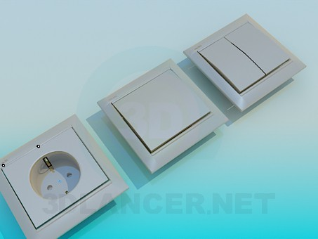 3d modeling Sockets and switches model free download