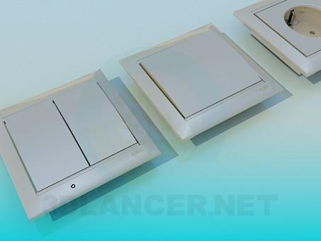 modelo 3D Enchufes e interruptores - escuchar