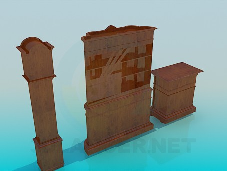 3d model Set antique furniture - preview