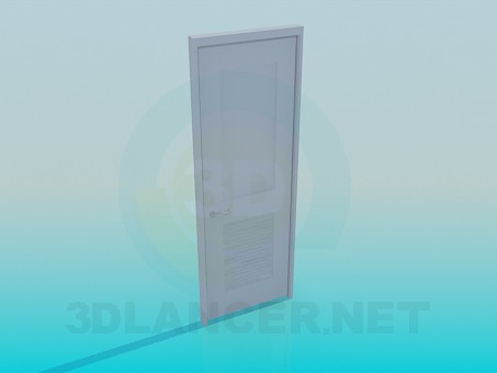 3d model Door handle set - preview