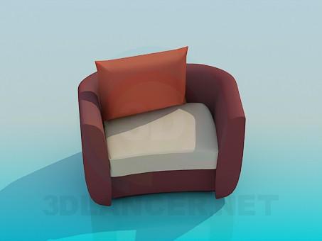 3d модель Крісло з подушкою – превью