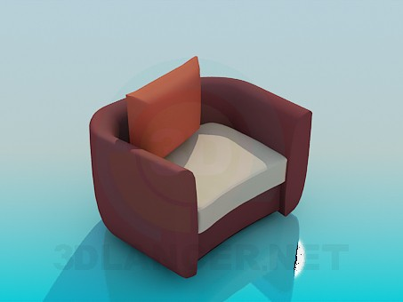 3d model Chair with cushion - preview