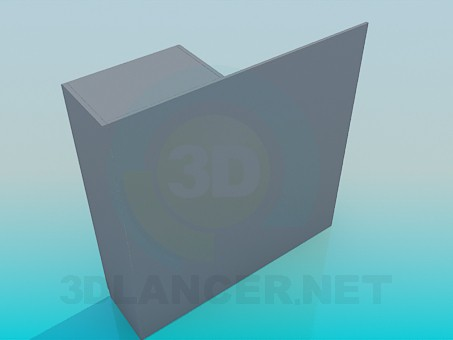 3d модель Шафа в передпокій – превью