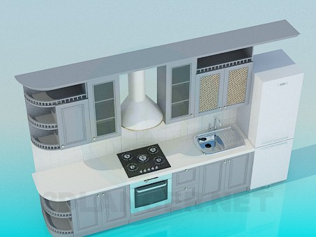 3d modeling Kitchen Furniture model free download