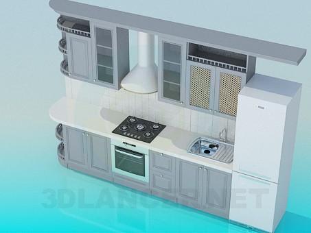 modelo 3D Muebles de cocina - escuchar