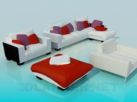 3d modeling A set of upholstered furniture model free download