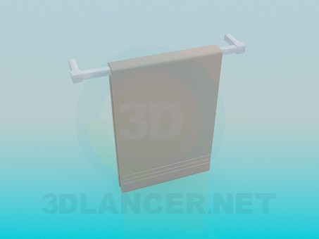 3d model Wall mounted towel rack - preview