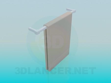 modelo 3D Toallero de pared - escuchar