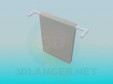 3d модель Настенный полотенцедержатель – превью