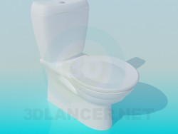 Toilet bowl with a round lid