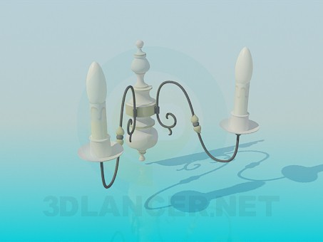 3d model Wall lamps with candles - preview