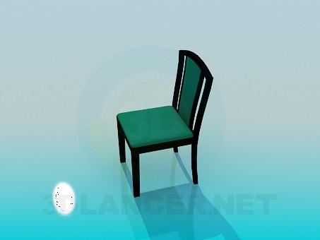 3d модель М'який стілець – превью