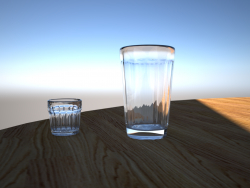 Glas facettiert + rmka