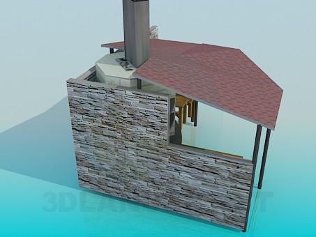3d model Summer Kitchen - preview